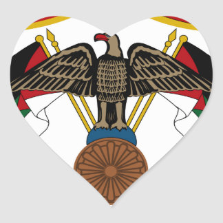 Jordan Coat of Arms Heart Sticker