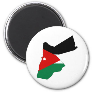 Jordan country flag map shape silhouette magnet