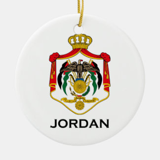 JORDAN - emblem/flag/coat of arms/symbol Ceramic Ornament