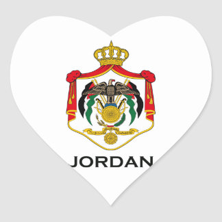 JORDAN - emblem/flag/coat of arms/symbol Heart Sticker
