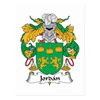 Jordan Family Crest Postcard