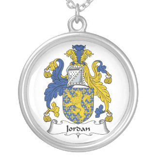 Jordan Family Crest Silver Plated Necklace