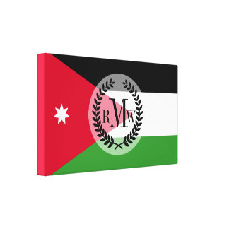 Jordan Flag Canvas Print