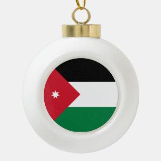 Jordan Flag Ceramic Ball Christmas Ornament