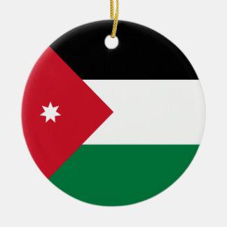 Jordan Flag Ceramic Ornament
