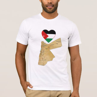 Jordan Flag Heart and Map T-Shirt