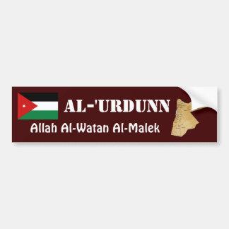 Jordan Flag + Map Bumper Sticker