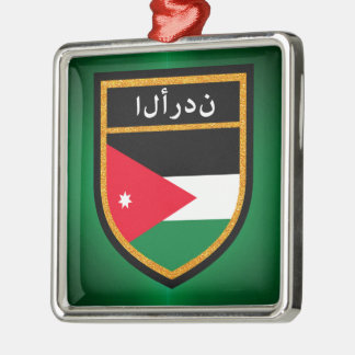 Jordan Flag Metal Ornament