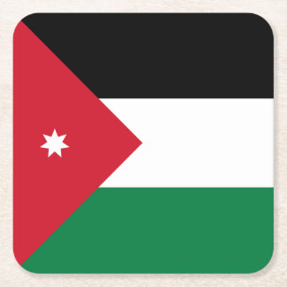 Jordan Flag Square Paper Coaster