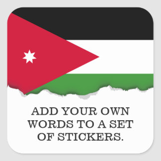 Jordan Flag Square Sticker