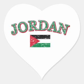 Jordan football design heart sticker