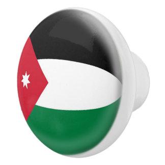 Jordan Jordanian Flag Ceramic Knob