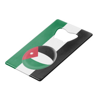 Jordan Jordanian Flag Wallet Bottle Opener