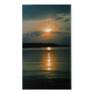 Jordan Lake Sunset Poster