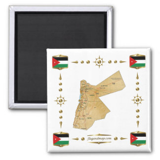 Jordan Map + Flags Magnet