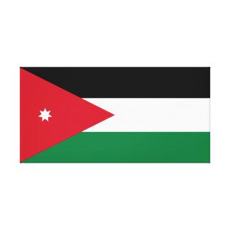 Jordan National World Flag Canvas Print