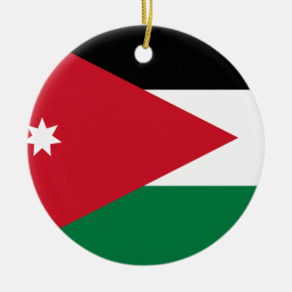 Jordan National World Flag Ceramic Ornament