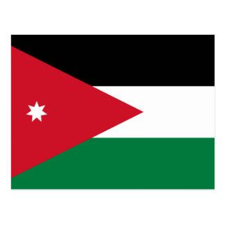 Jordan National World Flag Postcard