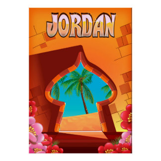 Jordan Palace travel poster