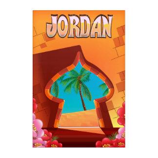 Jordan Palace travel poster Acrylic Wall Art