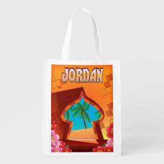 Jordan Palace travel poster Reusable Grocery Bag