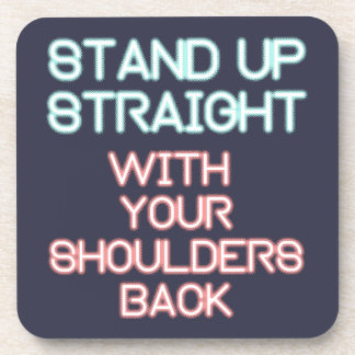 Jordan Peterson: Stand Up Straight... Coaster