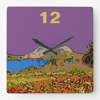 JORDAN POND SQUARE WALL CLOCK