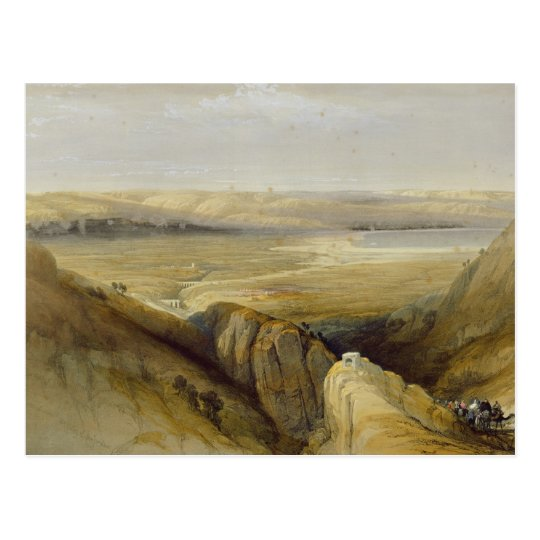 Jordan Valley, from Volume II of 'The Holy Land' Postcard