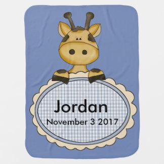Jordan's Personalized Giraffe Baby Blanket