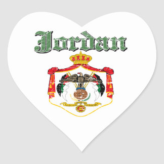 Jordon coat of arms designs heart sticker