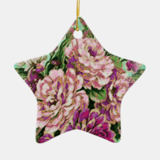 Joremount Chic Floral Star Ceramic Star Ornament