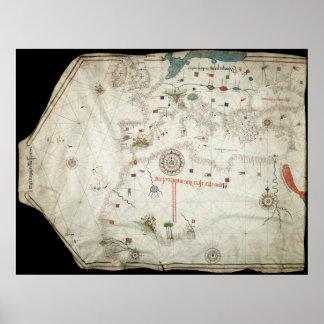 Jorge Aguiar Map - 1492 Poster
