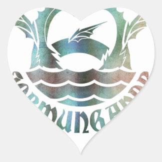 Jormungandr Heart Sticker