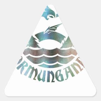 Jormungandr Triangle Sticker