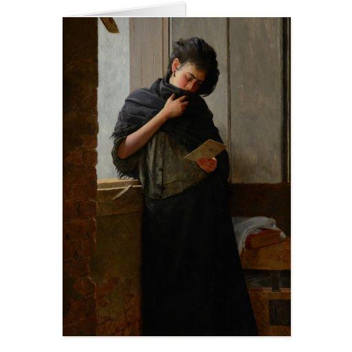 José Almeida Jr - Saudade (Longing) (1899) Greeting Cards
