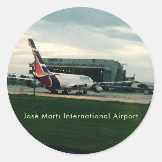 José Martí International Airport Hava Cuba Classic Round Sticker