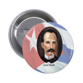 Jose Marti on Cuban Flag 2 Inch Round Button