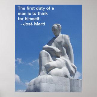 José Martí Statue Poster