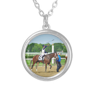 Jose Ortiz Off the Tracks Silver Plated Necklace