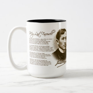 Jose Rizal My Last Farewell Two-Tone Coffee Mug