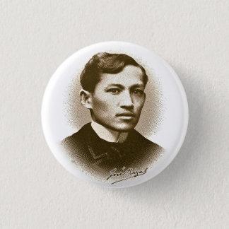 Jose Rizal (Sepia Print) 1 Inch Round Button