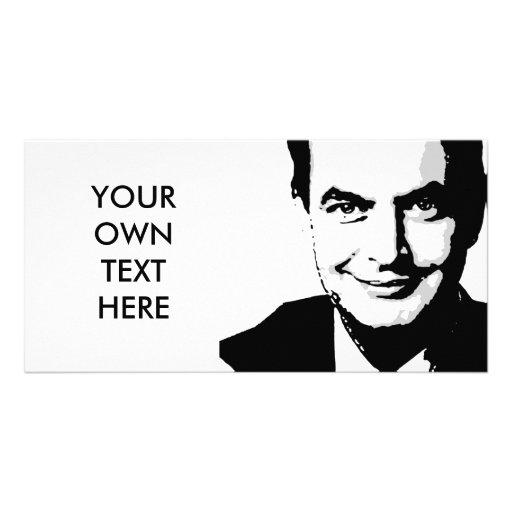 Jose Zapatero Custom Photo Card