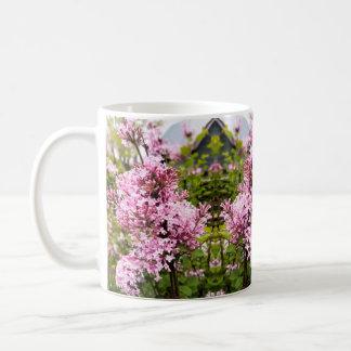 Josee pink lilacs in bloom coffee mug