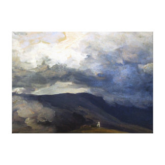 Josef Mánes Clouds in the Mountains Canvas Print