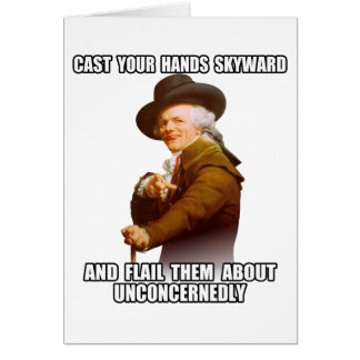 Josepf Ducreux rap Hands Skyward Card