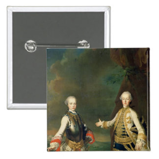 Joseph and Leopold, sons of Francis I and Maria 2 Inch Square Button