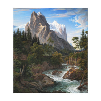Joseph Anton Koch Reichenbach Valley Mountains Canvas Print