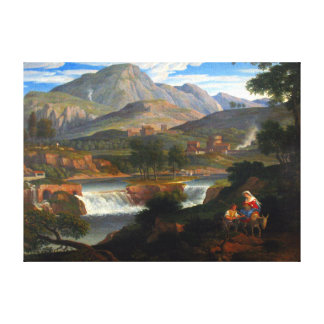 Joseph Anton Koch Waterfalls at Subiaco Canvas Print