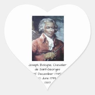 Joseph Bologne, Chevalier de Saint-Georges Heart Sticker