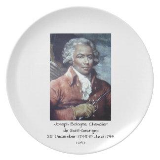 Joseph Bologne, Chevalier de Saint-Georges Plate